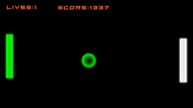 Avoid having sharp objects within reaching distance when attempting to play the Pong mode.