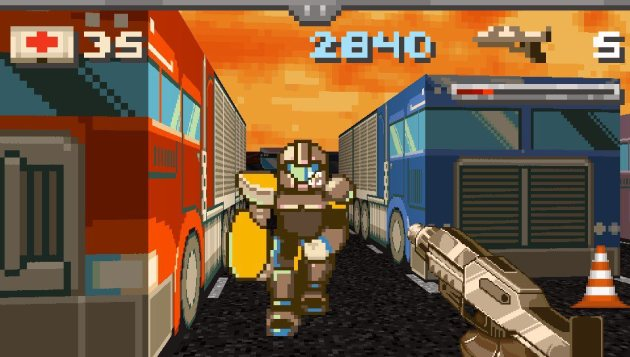 If Doom was set in a trucking scrapyard and demons were replaced with angry football players.