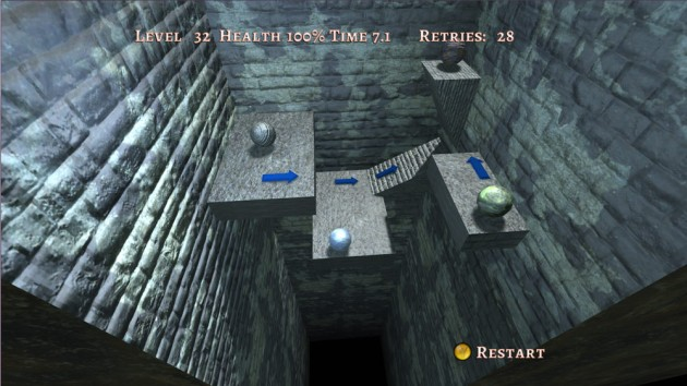 A lot of the gravity problems came in levels with the arrows, which have wind-tunnel like things that push you around.