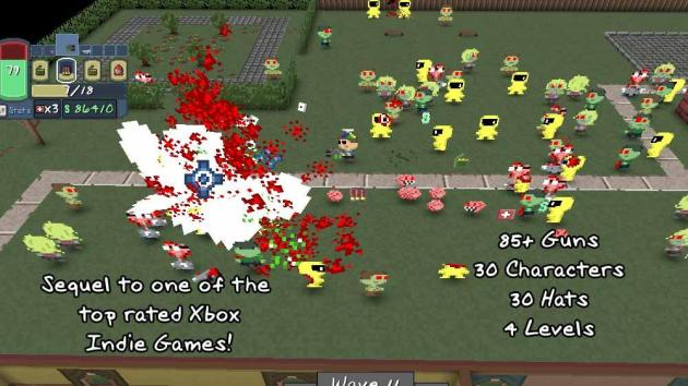 There are a ton of goodies to unlock in Zombie Estate 2.  I just wish the game you have to play to unlock them was fun.  It's just frustrating.