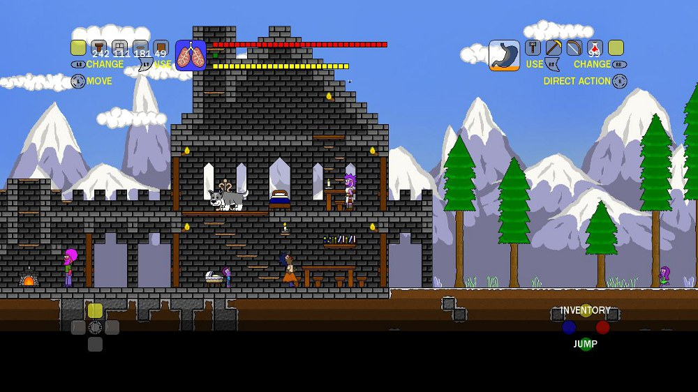 Terraria indie gamer chick for Best house designs terraria