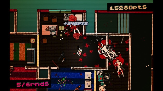As a full disclosure type of deal, I had to play Hotline Miami in shorter play sessions (about 30 to 45 minutes at a time) due to epilepsy concerns.  But I was never bummed when it was time for a break.  The repetition can be exhausting.