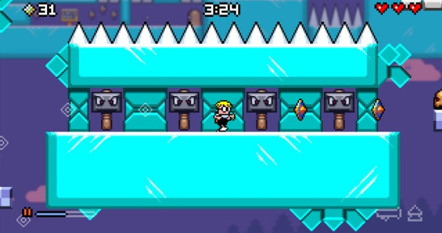 "Mutant Mudds seems to hit all the platforming clichés.  There's fire.  There's ice.  There's clouds.  Actually, I never ran into an underwater level, but there were still four doors locked when I finally got bored and said ""there's no hope this is going to get better."""