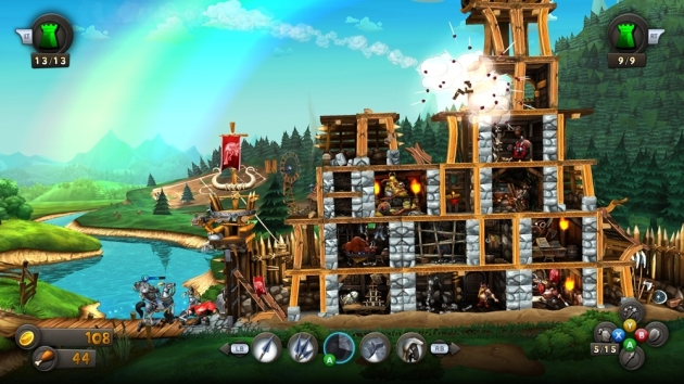It looks a little Angry Birdsish, but the structures in CastleStorm take more than a couple shots to take down.