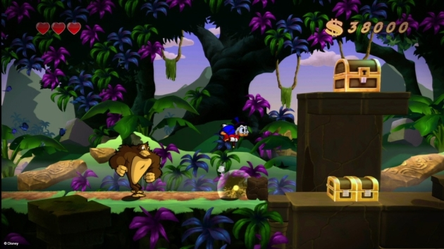 I don't get it.  If some evil corporation wanted to bulldoze the rainforest and make gorillas go extinct, there would be worldwide outrage. But a game where you play as a multi-billionaire duck who caves in the skulls of gorillas to earn an extra couple bucks to throw onto the pile (literally) is acceptable children's entertainment.