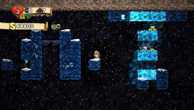 Spelunky has ice stages with bad control. OF COURSE IT DOES!