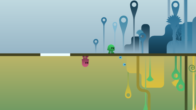 The reverse gravity thing used to be novel. Now, it's almost a prerequisite if you want to make an indie platformer.