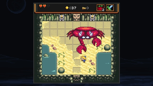 The first boss is a giant crab monster. Of course it is.