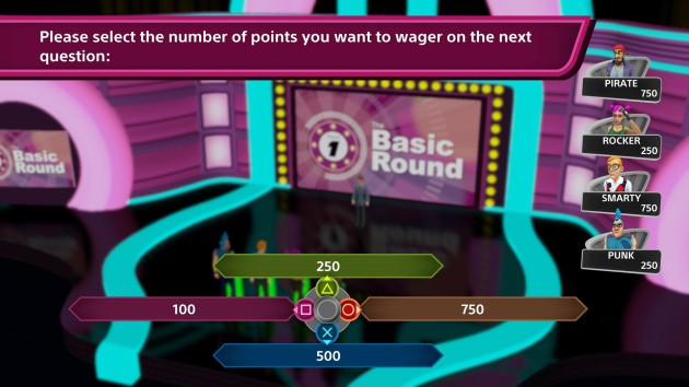 This is the only time you wager points. It's at the end of the first round, and you can't even bet the maximum amount of points (which at most can be 1,250). So very lame.