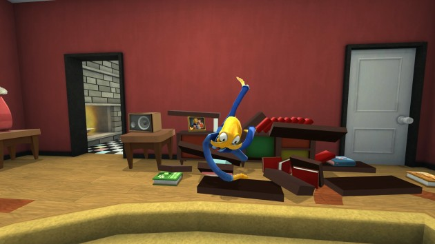 Ironically, this is also what my room looked like after an hour with Octodad.