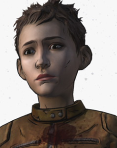 This is Jane. Her sister basically gave up on life and got eaten. Since then, Jane has been on her own. She was the other character I didn't immediately hate. In fact, I would have been perfectly fine with Clem getting killed and her becoming the main character of season three. That would have at least kept me interested. But, she actually dies in some of the endings, which renders that possibility impossible. Also, if Clem is the star of season three (which is also very unlikely at this point), that means Jane has to die early on in the first chapter. That sucks.