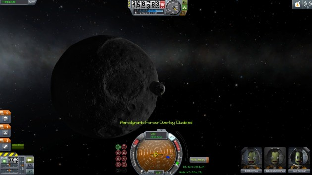 Sadly for the Kerbals, I found the one place in the universe where there's no Subway for them to eat at.