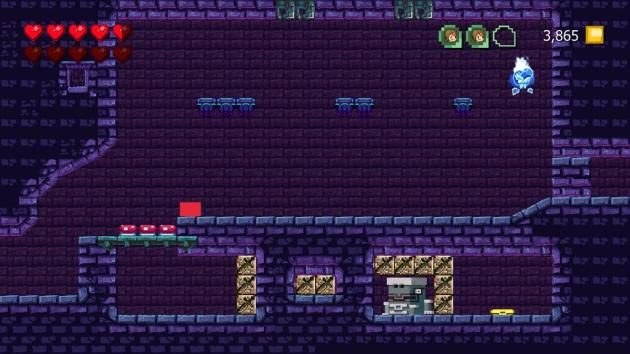 The end of the game has an over-reliance on wall-jumping, which is where it starts to feel they ran out of ideas. This is one of the few indies I've played where removing levels would have almost certainly bumped it up the Leaderboard.